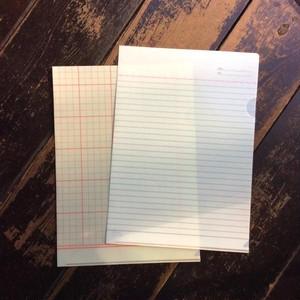 BUNG Clear Forder 大学ノート+工作用紙
