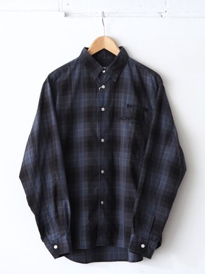 N.O.UN Two Pocket Shirt Blue Check,Gray Check