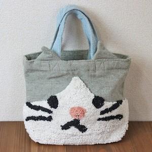 【グレネコ】ぽこもこバッグ【猫柄 猫グッズ】