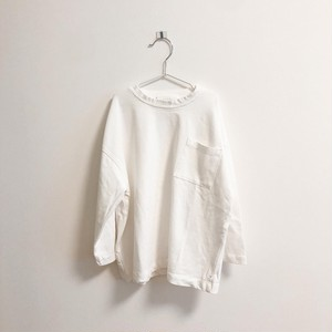 【kids】white long T-shirt