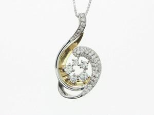 【K18】0.500ct UP ダイヤモンドネックレス