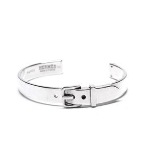 Hermès Vintage Sterling Silver Belt Motif Bangle