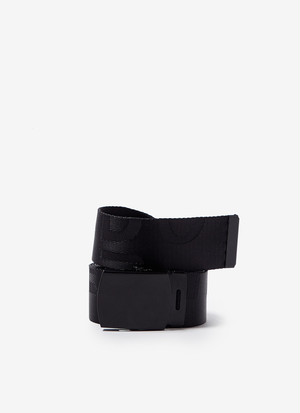 LOGOED BELT WITH METAL ADJUSTABLE BUCKLE