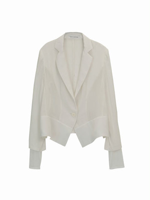 Tulle sleeve jacket  / white / S16JK02