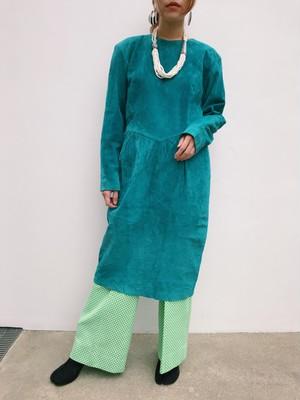 80s blue suede dress ( ヴィンテージ ブルー  スウェード ワンピース )