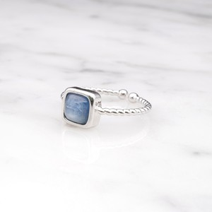 SINGLE MINI STONE RING SILVER 037