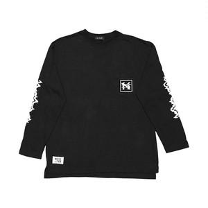 """""""NOI5E"""" ロングスリーブTシャツ(ウェーブノイズ)(ブラック)"""