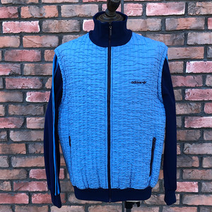 1980s Adidas Pile Quilted Track Top Made In West Germany