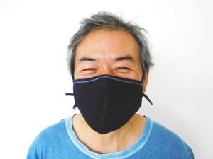 ◆100%自然素材 天然灰汁発酵建て 藍染◆ 竹布抗菌マスク