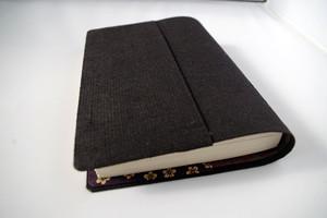 文庫本セパレート式ブックカバー(絹・紬)hb064