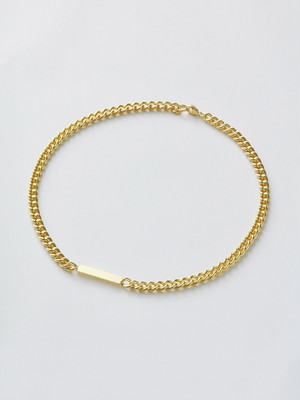 WEISS Plate Chain Necklace Gold wei-ncgd-18