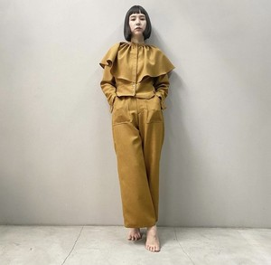 New!! Pinch waist pocket pants /Camel (2021 New collection)