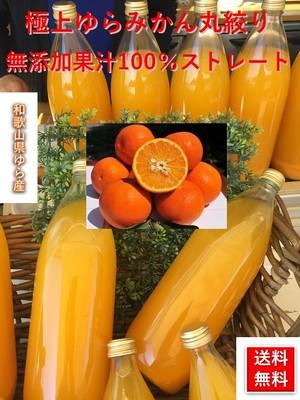【業務用】ゆらみかんジュース  果汁100%和歌山県由良産の無添加 【1000ml×6本 セット】 【送料無料】