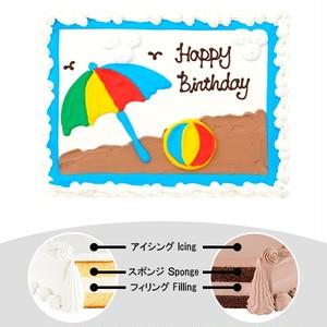 【予約】コストコ ハーフシートケーキ ビーチケーキ   [Pre-order] Costco Half-sheet cake Beach Cake