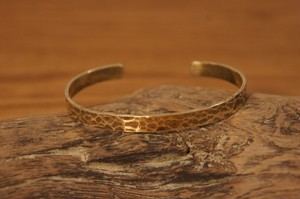 hammer finish brass bangle(S)