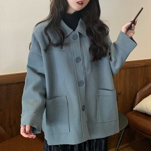 【アウター】好感度UP韓国系折り襟シングルブレストコート25611439