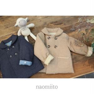 NAOMI ITO(ナオミイトウ) /  ダブルボタンコート 80-90cm