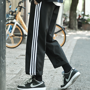 Sporty style straight pants LD0684