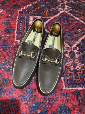 .GUCCI LEATHER HORSE BIT LOAFER MADE IN ITALY/グッチレザーホースビットローファー 2000000050485