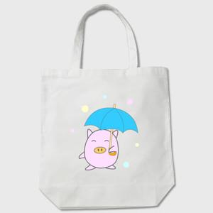 トートバッグ 雨の日ぷくちゃん