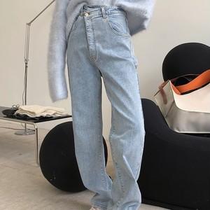 ハイウエストデザインストレートジーンズ ・1354