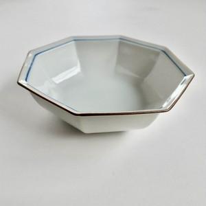 [NO.007] 九谷の白 八角中鉢 / Kutani White Octagonal Bowl M / Showa Era
