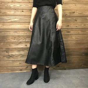 フェイクレザーフレアスカート【&mode】