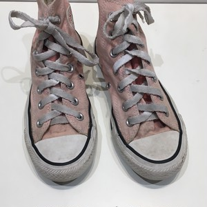 """USED """"  CONVERSE ALL STAR Pink HI """""""