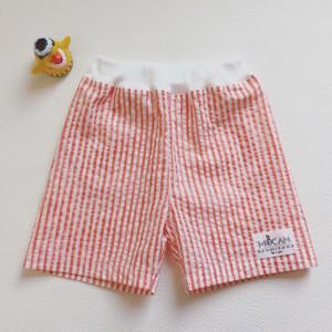 しましまショートパンツ  【サーモンピンク】100 size