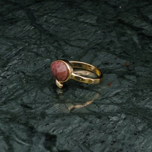 SINGLE STONE OPEN RING GOLD 007