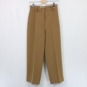 【美品】H BEAUTY&YOUTH UNITED ARROWS | DOUBLE CLOTH WIDE TAPERED PANTS ワイドテーパードパンツ | M | キャメル | レディース