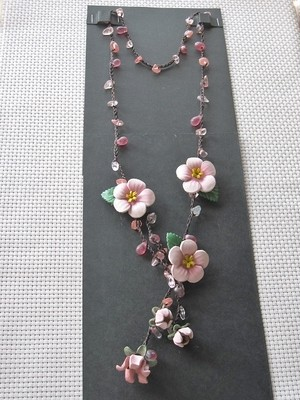 【sale】ネックレス(革・ピンク)