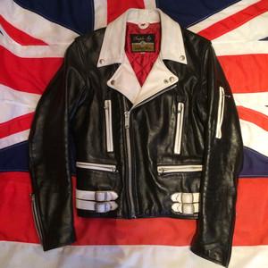 666 UK ツートンライダースジャケット