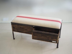 品番UES2-114  2drawer ottoman[nerrow/European grain sacks]