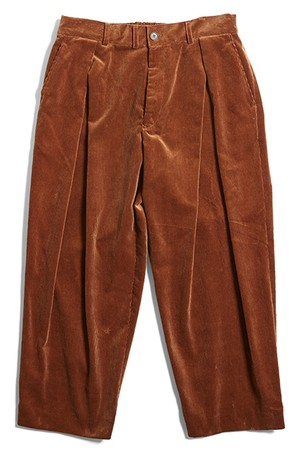 (is-ness) CORDUROY TUCK TROUSERS