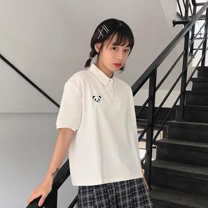 ぱんださん ポロシャツ