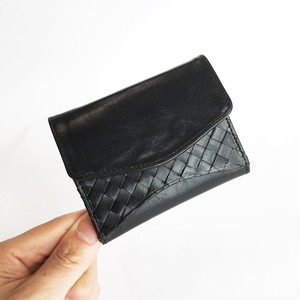 """[小さい財布] """"Palm""""ウォレット < Black> 名入れ・ギフト包装無料"""