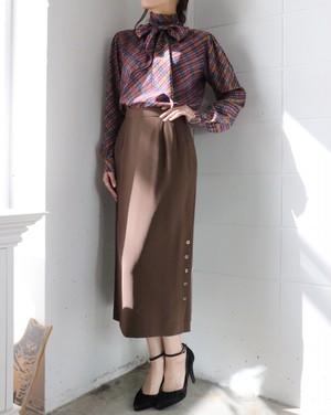 pierre cardin brown skirt