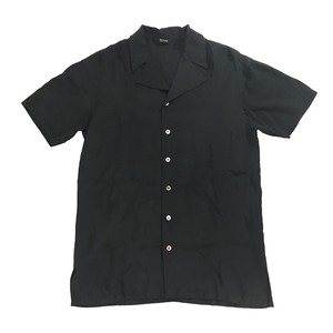 Y'S FOR LIVING SHORT SLEEVE OPEN COLLAR SHIRT