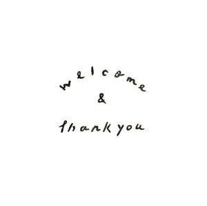 ウェデイング用 文字はんこ  「welcome & thankyou」