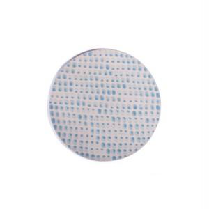 Dots turquoise ドット ターコイズ 正円プレート スモール