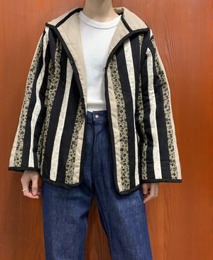 flower pattern quilting patchwork jacket 【M位】