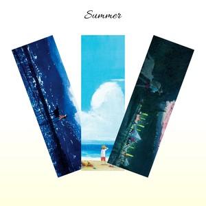 お守り栞(しおり) - 夏シリーズ 3枚セット -