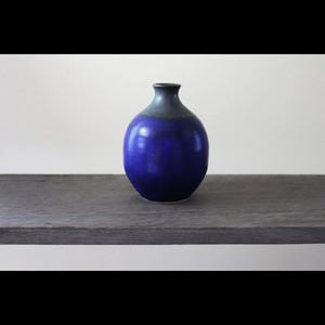 陶芸作家【中川智治 Potter Ash Field】 徳利 Sake Bottle 一輪挿し Flower Vase(Blue×BLK×Gold)