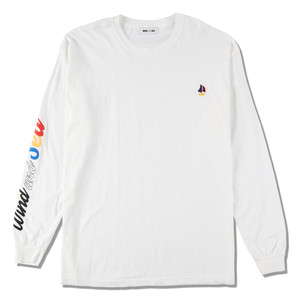 WDS(sail-boat) L/S T-SHIRT (WDS-20A-CS-02) WIND AND SEA WHITE