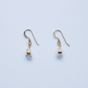 Double Terminated Quartz Pierced Earrings