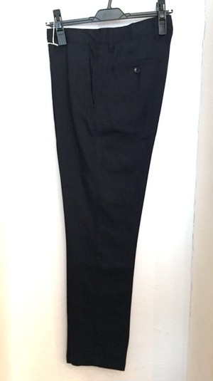 Stretch Linen Slacks Pants Navy