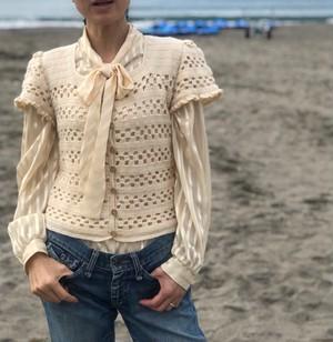 knit /ivory  button