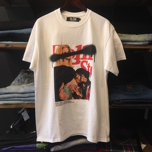 【DLSM】 -ディーエルエスエム-SPRAY CARDI PHOT TEE WHITE