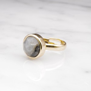 BIG LABRADORITE RING 003